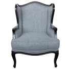 French Provincial Louis Wingback Armchair