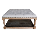 Chesterfield Style Upholstered Coffee Table