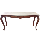 Louis XV Console Table with White Marble Top