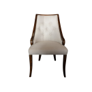 Upholstered Dining Chair in Deco Style with Deep Button Detailing