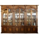 American Arch Bookcase with Glass Doors