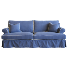 Linen Three Seat Sofa