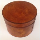 Large Vintage Style Round Jewellery Box in Genuine Leather