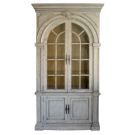 Georgian Display Cabinet in Antique White