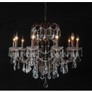 French Empire Cut Crystal Chandelier