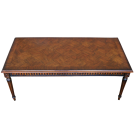 Rectangular French Occasional Table with Parquetry Top