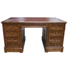 Twin Pedestal Writing Desk
