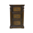 French Three Drawers Filing Cabinet