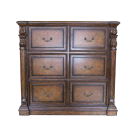 French Six Drawers Filing Cabinet
