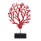 Red Coral on Stand