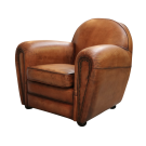Duncan Tub Chair in Distressed Leather