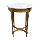 Oval Side Table Marble