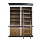 French Provincial Two Bay Bookcase