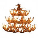 Whitetail Antler Three Tier Chandelier