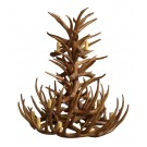 Red Deer Antler Tiered Pendant Chandelier