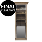Industrial Mirrored Display Cabinet - Right Hand Opening