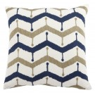 Embroidered Cushion in Chevron Pattern