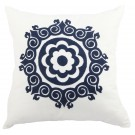 Embroidered Cushion in Fleur Motif