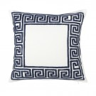 Embroidered Cushion in Geometric Pattern