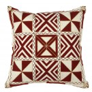 Embroidered Cushion in Pinwheel Pattern
