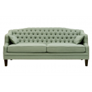 Linen Chesterfield Three Seat Sofa