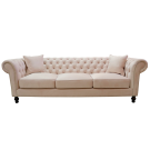Pink Velvet Chesterfield Sofa