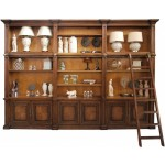 French Classical Library Bookcase with Ladder