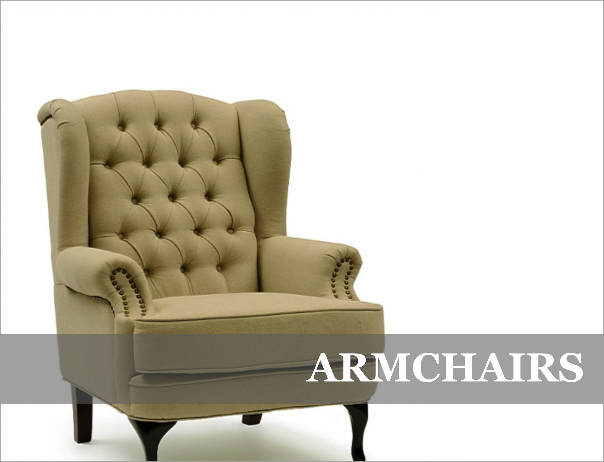 French Provincial English Upholstered Arm Chairs