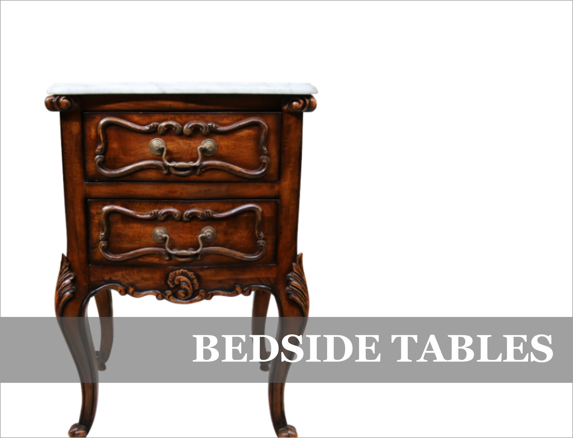French Provincial Bedside Tables Night Stands
