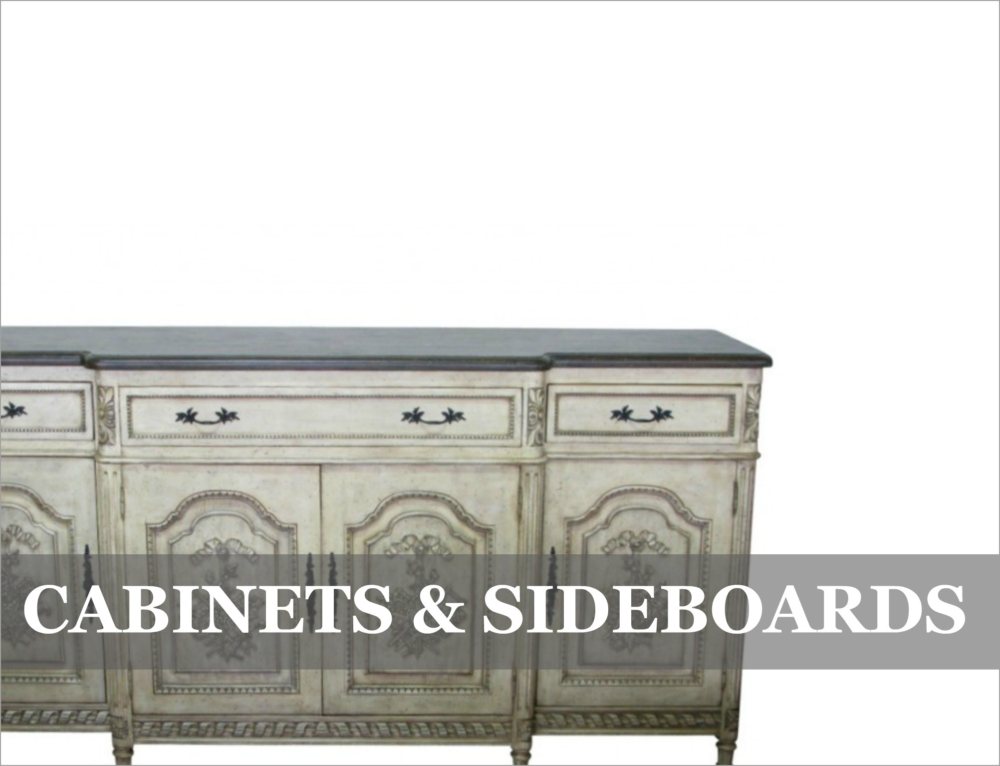 French Provincial & Industrial Sideboards Cabinets Dining Room Storage