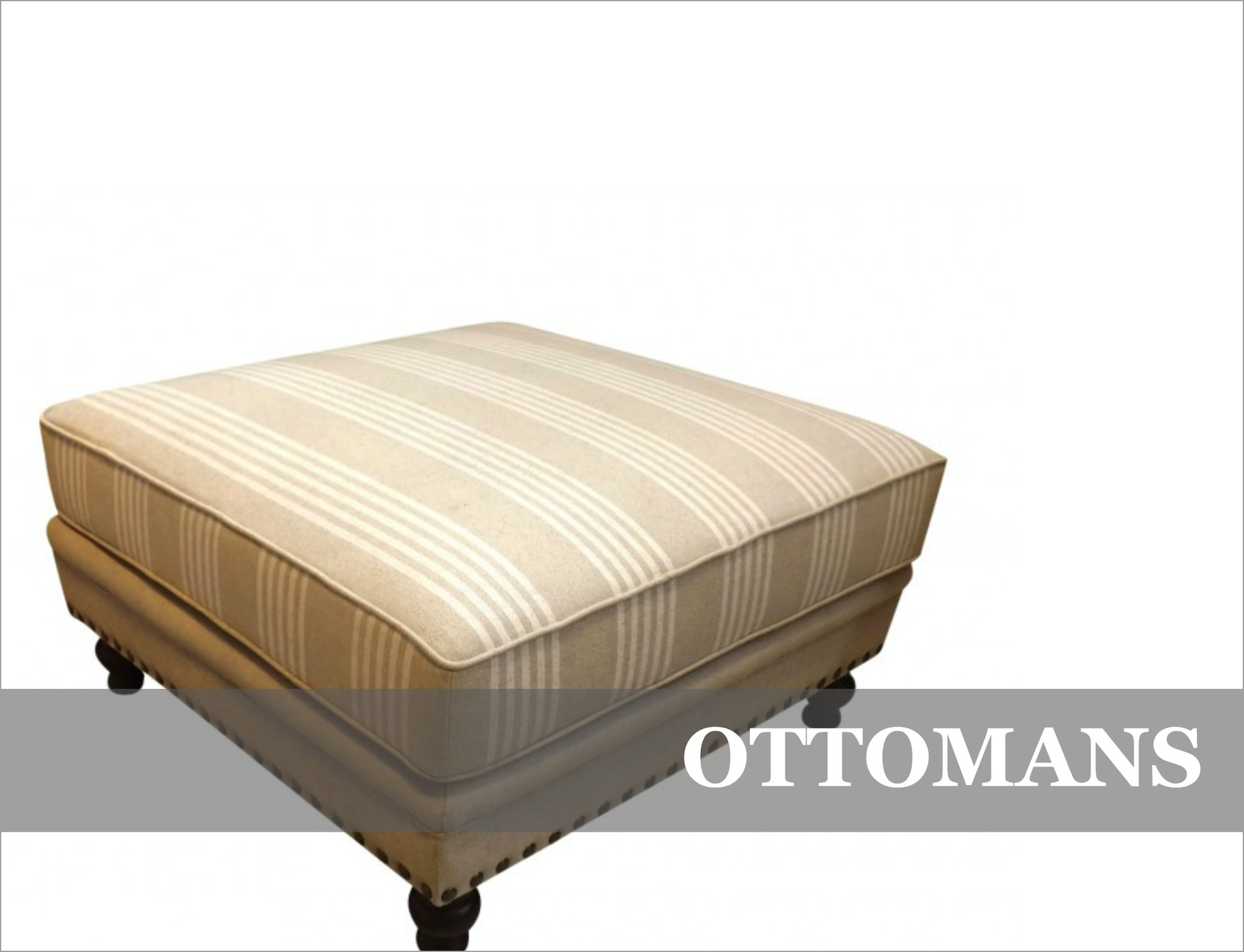 French Provincial English Ottomans