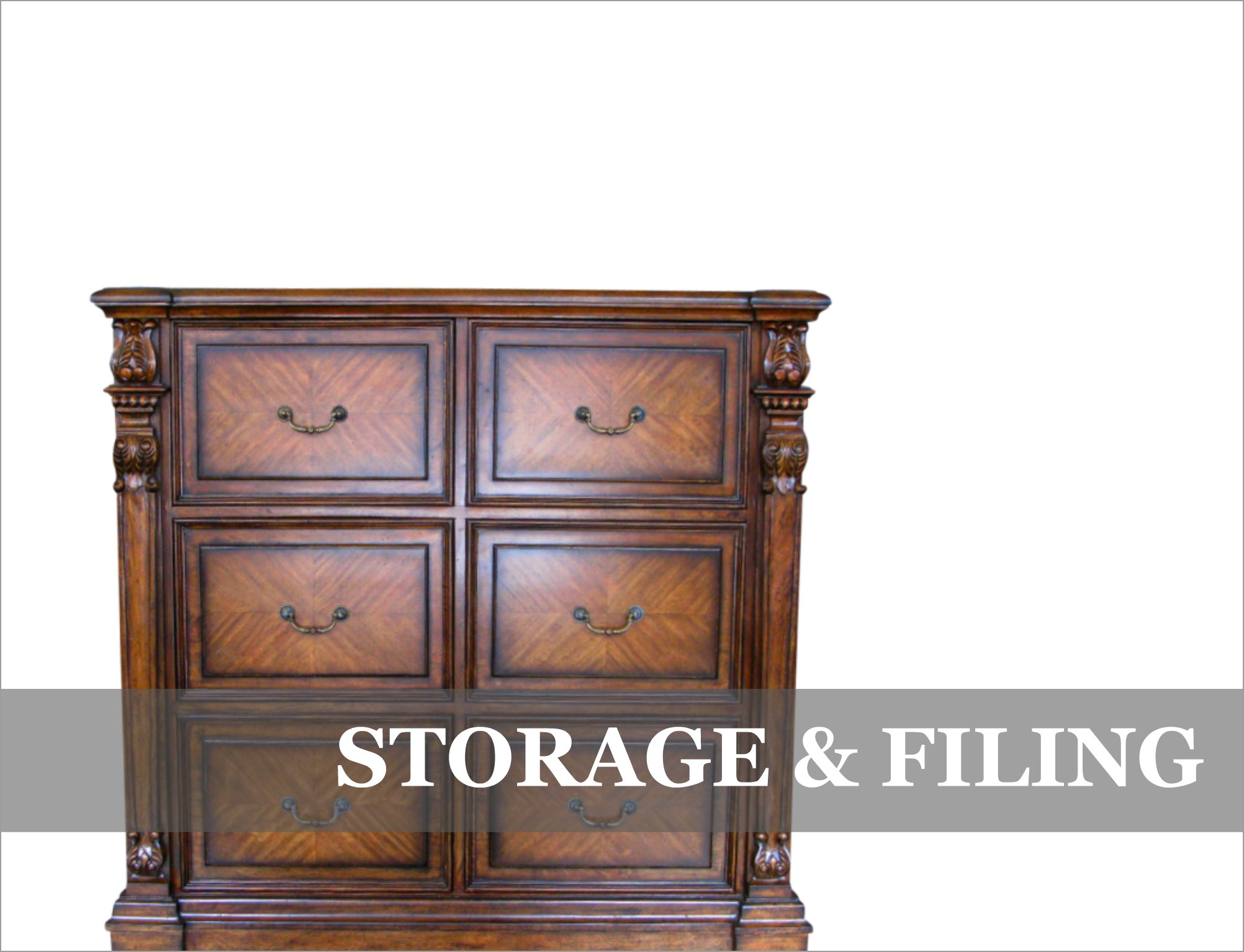 French Provincial Office Storage Furniture